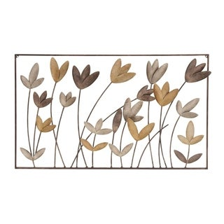 Studio 350 Metal Wall Flower Decor 36 inches wide, 22 inches high