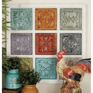 Studio 350 Metal Wood Wall Plaque 31 inches wide, 31 inches high