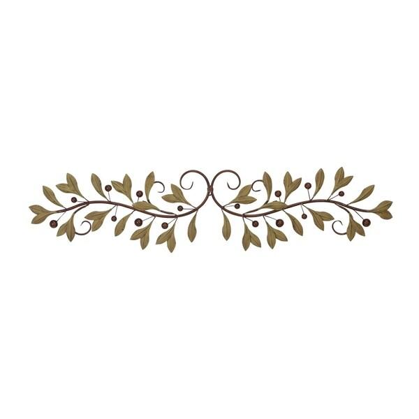 5837634362 Shop Copper Grove Kitty 48-inch Metal Leaf Wall Decor - Free ...
