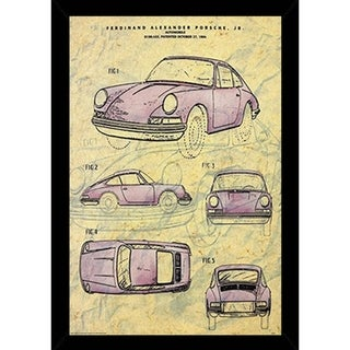 Vintage Porsche Patent Poster With Choice of Frame (24x36)