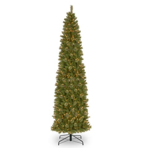 12 ft. Tacoma Pine Pencil Slim Tree with Clear Lights