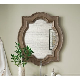 "Castilian 35"" Double Arch Mirror, Empire Gray - empire gray - 35""w x 41""h"