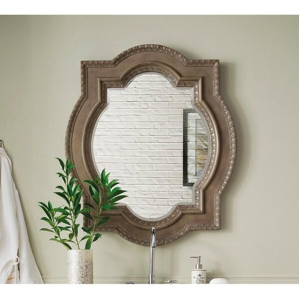 """Castilian 35"""" Double Arch Mirror, Empire Gray - empire gray - 35""""w x 41""""h"""