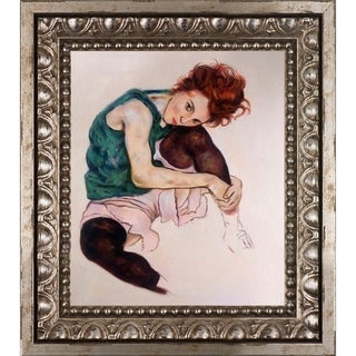 Egon Schiele 'The Artist's Wife' Hand Painted Oil Reproduction