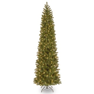 9 ft. Downswept Douglas Pencil Slim Fir Tree with Clear Lights