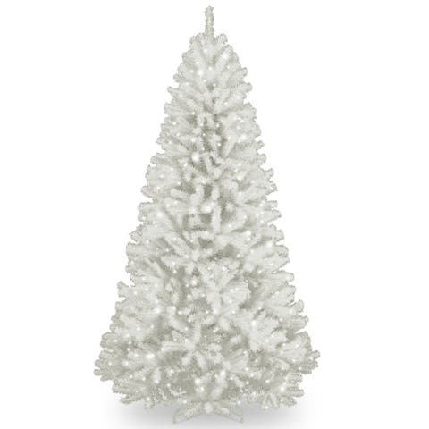 7.5 ft. North Valley White Spruce Tree with Clear Lights - 7.5'