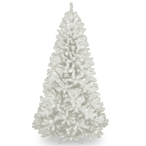 7.5 ft. North Valley White Spruce Tree with Clear Lights