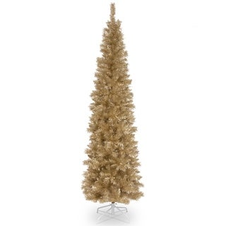 7 ft. Champagne Gold Tinsel Tree