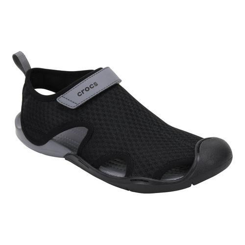 e722d02b7fd2 Shop Women s Crocs Swiftwater Mesh Sandal Black - Free Shipping On Orders  Over  45 - Overstock - 17264720
