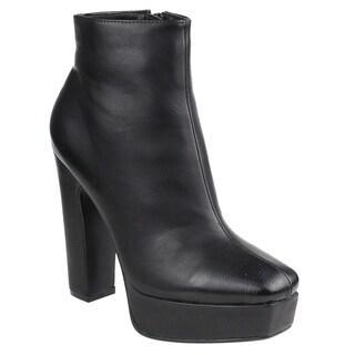 Beston EI45 Women's Platform Chunky Heel Ankle Booties Half Size Small (5 options available)