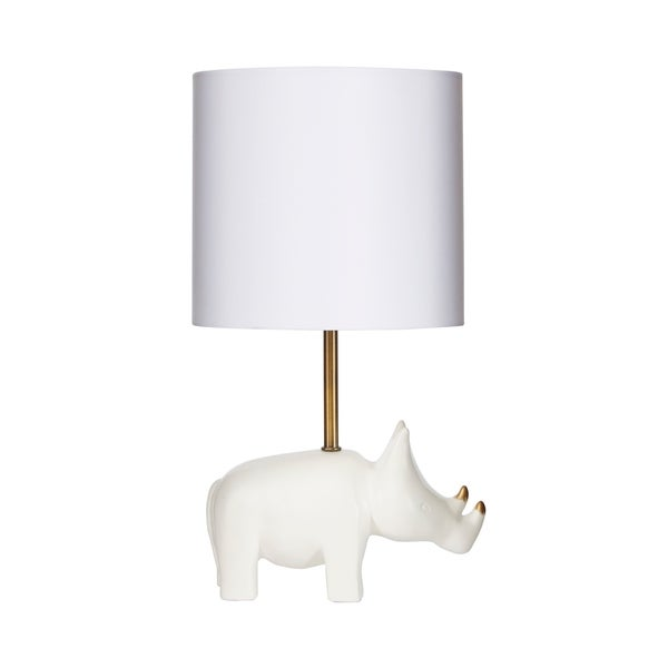 Gold Accented Rhino Table Lamp