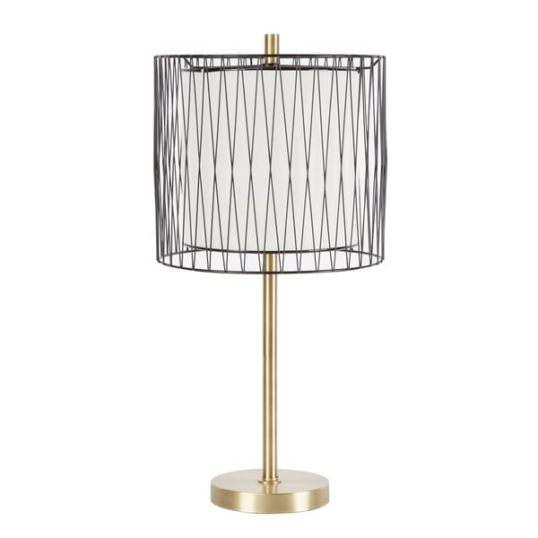 Roxie Table Lamp with Wire Cage Accent