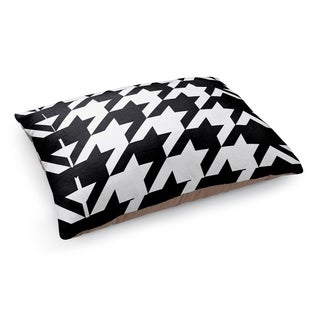 Kavka Designs Black/White Oversized Houndstooth Black Pet Bed