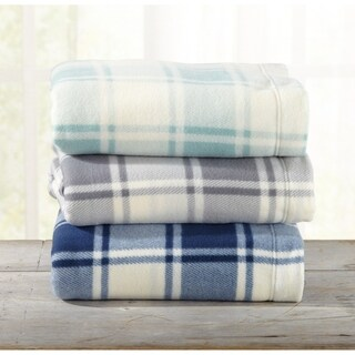 Great Bay Home Super Soft Extra Plush Plaid Polar Fleece Sheet Set