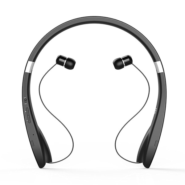 e3299883b9c Bluetooth V4.1 Headset Wireless Headphone Neckband Design with Retractable  Earbud