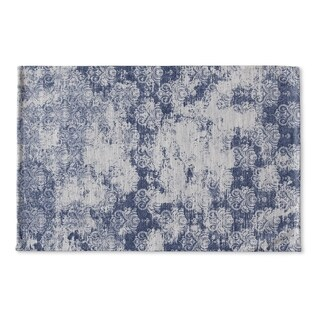 Kavka Designs Blue Milano Blue Flat Weave Bath mat (2' x 3')
