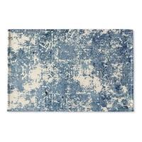 Kavka Designs Blue Tempe Flat Weave Bath mat (2' x 3')