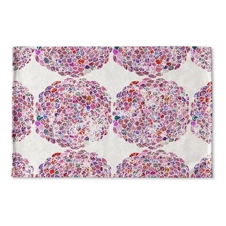 Kavka Designs Pink Dots Moroccan Flat Weave Bath mat (2' x 3')