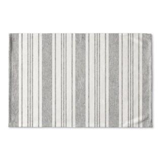 Kavka Designs Grey/White Cummaquid Grey Flat Weave Bath mat (2' x 3')