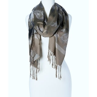 Women's Appealing Rayon Blend Beautiful Long Scarf Wrap (Grey)