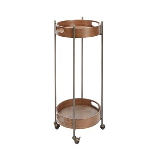 Miles 2-Tier Round Bar Cart, Tall