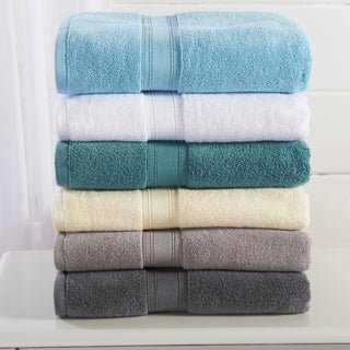 Home Fashion Designs Verona Collection 6-Piece Luxury Hotel / Spa 100% Cotton Towel Set (Option: White)