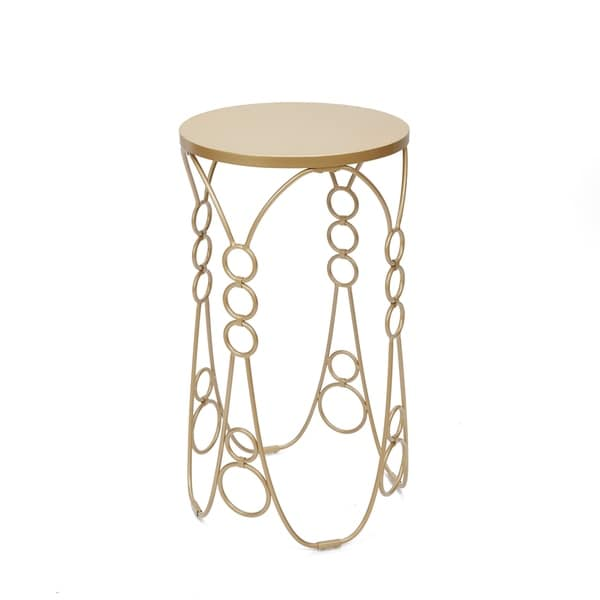 Nora Metal Accent Table in Gold