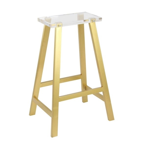 Shop Studio 350 Metal Acrylic Bar Stool 18 Inches Wide 28