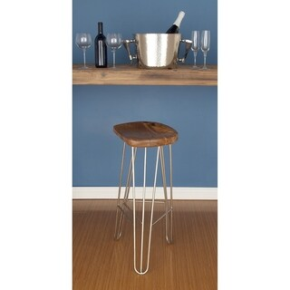Studio 350 Wood Metal Bar Stool 16 inches wide, 30 inches high