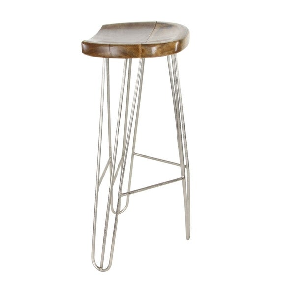 Marvelous Studio 350 Wood Metal Bar Stool 16 Inches Wide 30 Inches High Squirreltailoven Fun Painted Chair Ideas Images Squirreltailovenorg