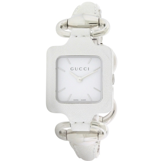 432b766f58f Shop Gucci 1921 Series White Leather Bangle Ladies Watch YA130404 - Free  Shipping Today - Overstock - 17269407