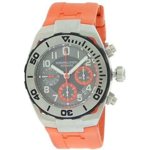 Hamilton Khaki Navy Sub Automatic Chronograph Rubber Mens Watch H78716983