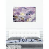 Oliver Gal 'Carried Away Amethyst' Canvas Art