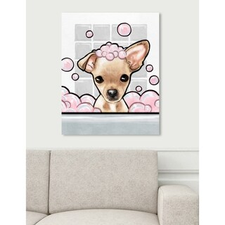 Oliver Gal 'Bubbly Personality Chihuahua' Canvas Art