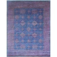 "Noori Rug Overdyed Chobi Morwarid Purple/Blue Rug - 8'0"" x 10'0"""