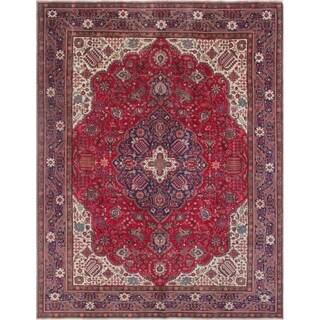 """Noori Rug Vintage Distressed Rahmatullah Red/Blue Rug - 9'6"""" x 11'3"""""""