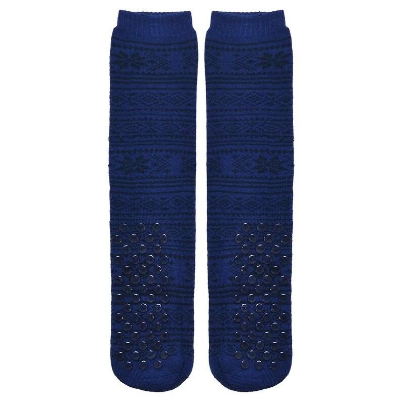 1 Pair Mens Gripper Socks, Non-Skid Soles, Soft Cotton Sl...