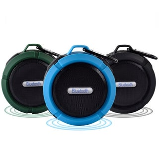 Mini Portable Bluetooth Speaker Sucker Waterproof Outdoor Climbing Bluetooth Stereo Speaker with Hook (Option: Blue)