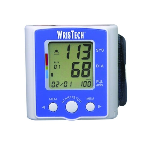 WrisTech Blood Pressure Monitor with Case - Lightning fast & Highly Accurate - Clinically Tested & Fully Automatic