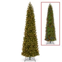 12 ft. Downswept Douglas Pencil Slim Fir Tree with Dual Color® LED Lights