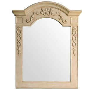"European Traditions 32"" Mirror, Parchment - Off White"