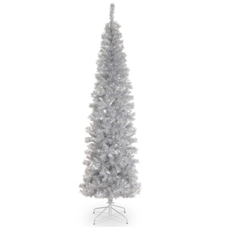 7 ft. Silver Tinsel Tree