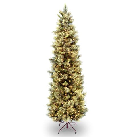 9 ft. Carolina Pine Slim Tree with Clear Lights - 9'