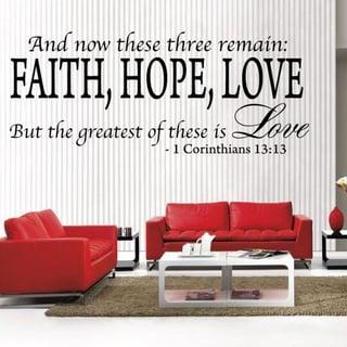Bible Quote Christian 1 Corinthians 13: 13