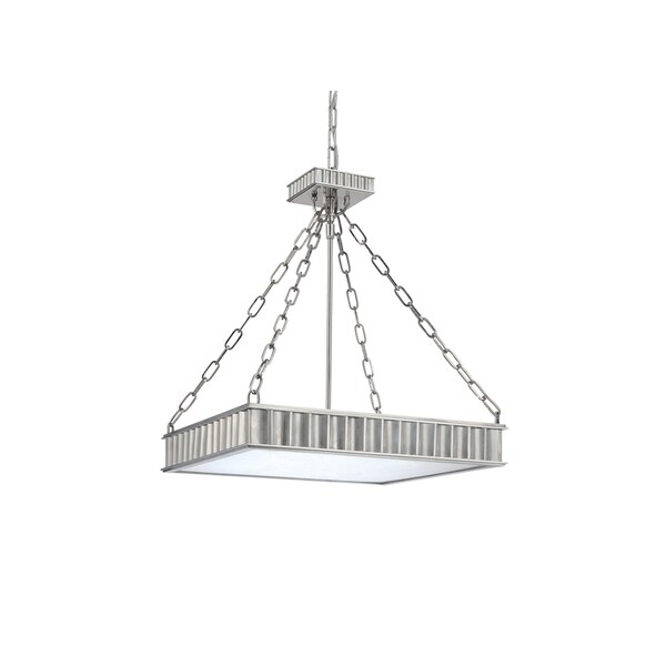 Hudson Valley Middlebury Polished Nickel Metal Square Pendant