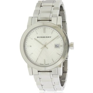 Burberry Large Check Stainless Steel Ladies Watch BU9100