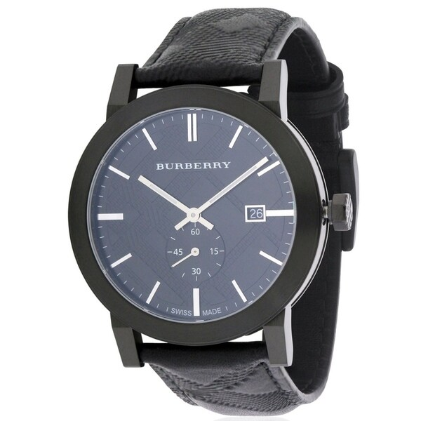 4e63c5ab0d24 Shop Burberry City Leather Mens Watch BU9906 - Free Shipping Today -  Overstock - 17282122