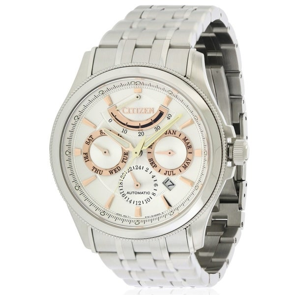 ee3fc65ae Shop Citizen Signature Grand Classic Automatic Mens Watch - Free Shipping  Today - Overstock - 17282223
