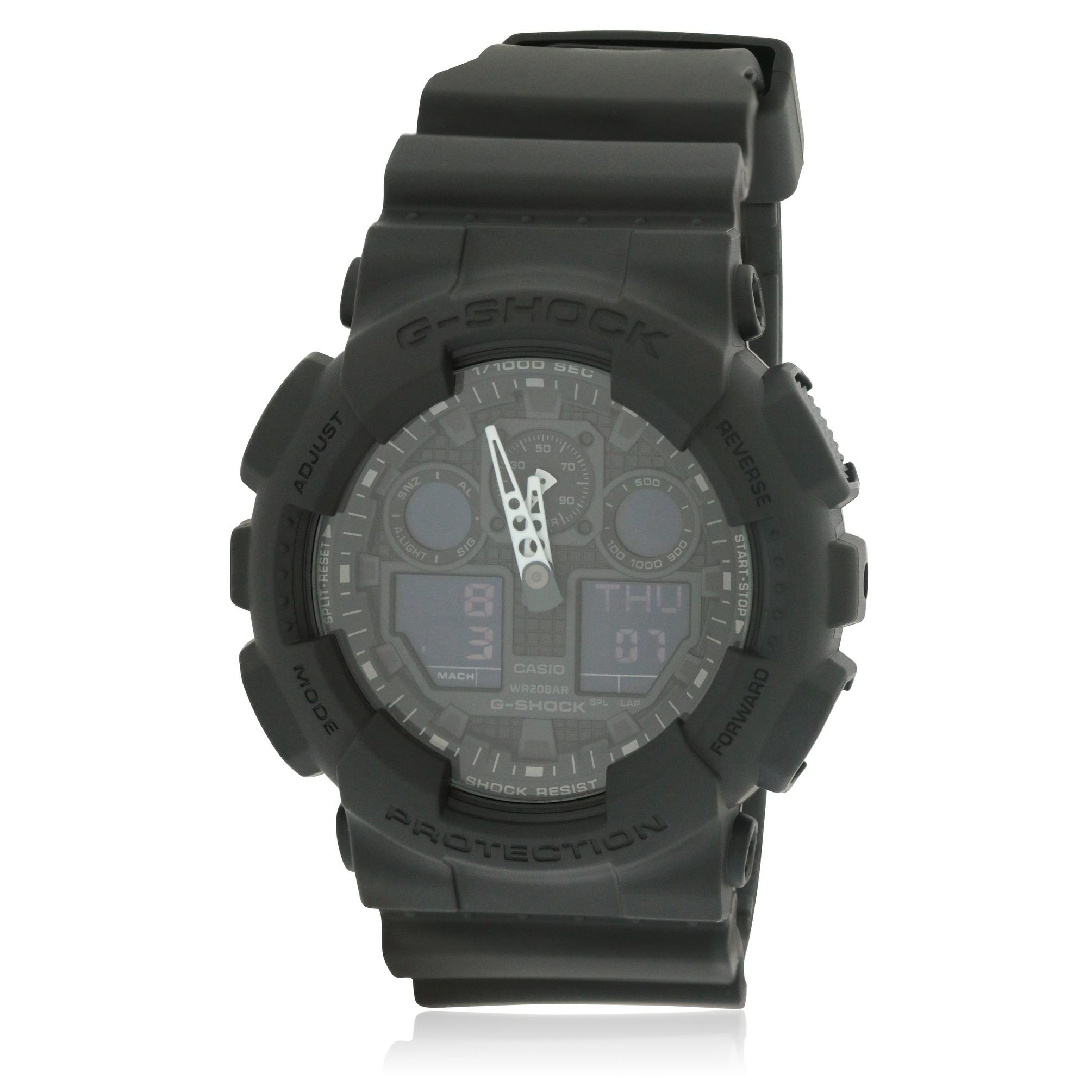Casio G-Shock Mens Watch GA100-1A1, Black, Size One Size ...