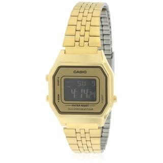 Casio Gold- Tone Digital Retro Ladies Watch LA680WGA-9B
